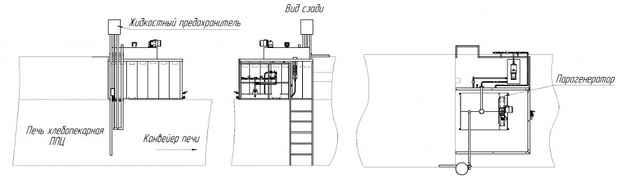 Установка парогенератора на печах ППЦ, ППП, Гостол, БН-50, ШМЗ