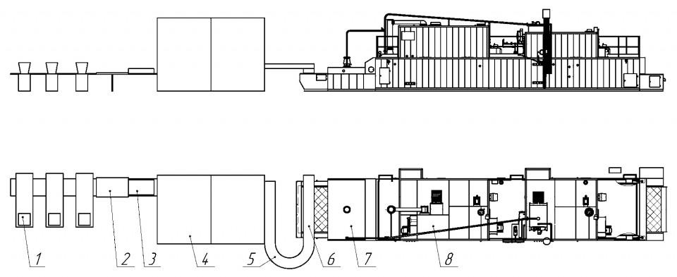 Автоматизированная линия производства сушки